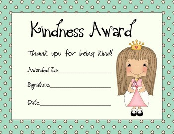 Kindness Award Set