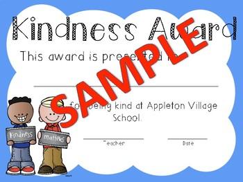 Kindness Award (with editable option)