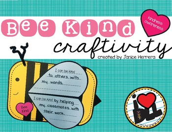 Kindness Bee Craftivity