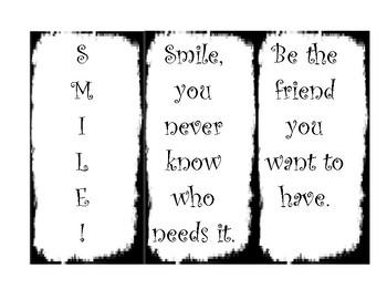 Kindness Bookmarks!