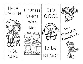 Kindness Bookmarks By Spellbound In Second Teachers Pay Teachers