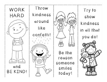 Kindness Bookmarks by Spellbound in Second Teachers Pay
