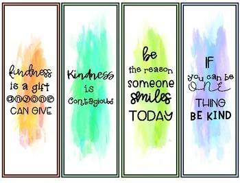 Kindness Bookmarks by Having Fun First | Teachers Pay Teachers