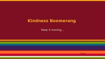 Kindness Boomerang: Character Education Lesson