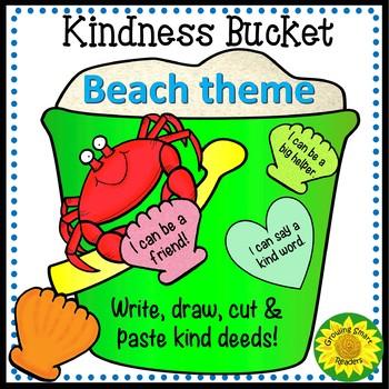 Kindness Bucket: Beach or Ocean Theme