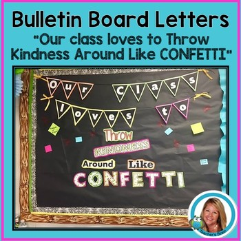 Bulletin Board Letters - Kindness - Free
