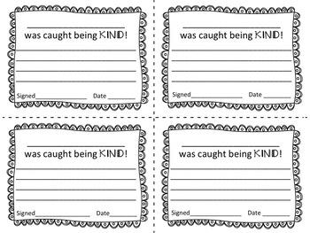 Kindness Bulletin Board Set / Caught Being Kind