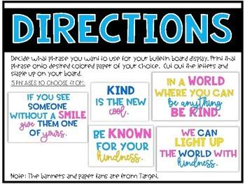 Kindness Bulletin Board Template