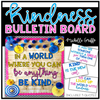 Kindness Bulletin Board Template