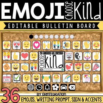 Kindness Bulletin Board with Emojis