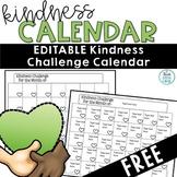 Kindness Calendar Editable FREE