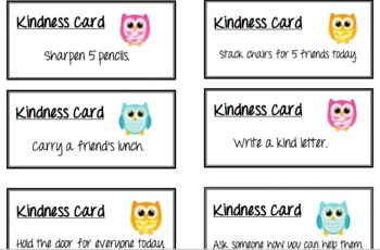 Kindness Cards Cont.