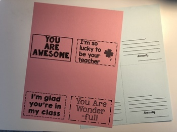 Student Appreciation Cards FREEBIE