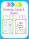 Kindness Cards & Motivational Poster
