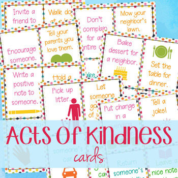 Kindness Cards - Random Acts of Kindness Cards for Kids