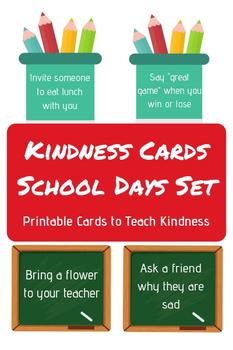 Kindness Cards - School Days Set - 40 Cards