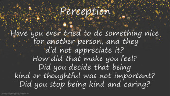 Kindness Caring Perception NO PREP Lesson 3 video Links Resources Character Ed