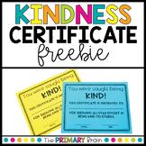 Kindness Certificate Award FREEBIE!!