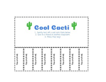 Kindness Certificates: Cool Cacti Edition