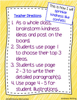 Kindness Writing FREEBIE!