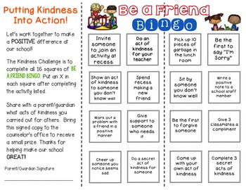 Kindness Challenge Brochure