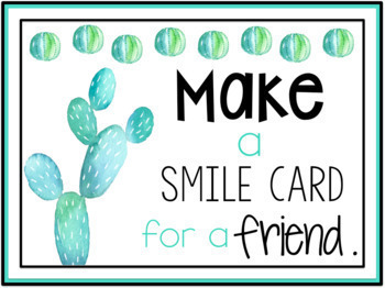 Kindness Challenge (Cactus Themed)
