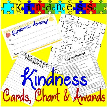 Kindness Challenge : List, Chart, Cards, & Awards : Be Kind in the Classroom