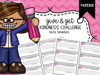 Kindness Challenge Note Templates