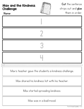 Kindness Challenge | Reading Comprehension Packet | Free Reading Passage