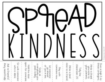 Kindness Challenge - Tear Away Challenges