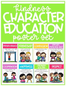 Kindness Character Education Poster Set