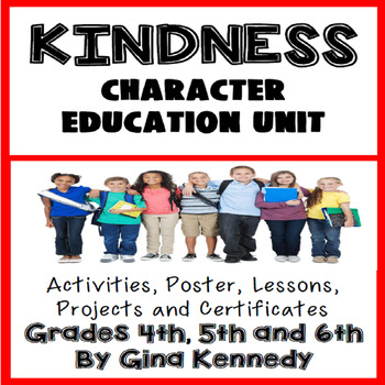 Kindness Character Education Unit, No-Prep Lessons, Activi