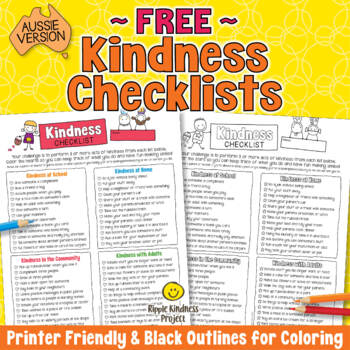 Kindness Checklist for Students - A4