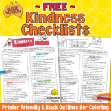 FREE Kindness Checklist - Printable Character Building Act