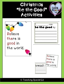 Kindness Christmas Activities  - Be the Good