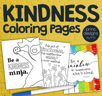 Kindness Classroom Coloring Pages • Positive Coloring • Kindness & Helpfulness