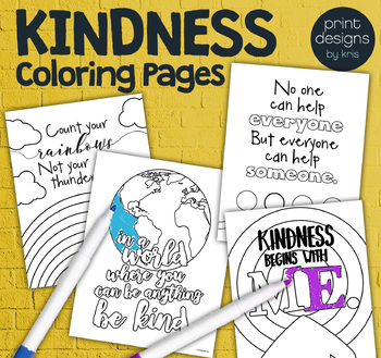 Kindness Classroom Coloring Pages • Positive Coloring ...