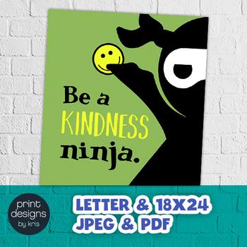 Kindness Classroom NINJA Poster