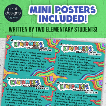 Kindness Classroom PLEDGE Poster - Morning Routine Classroom Pledge