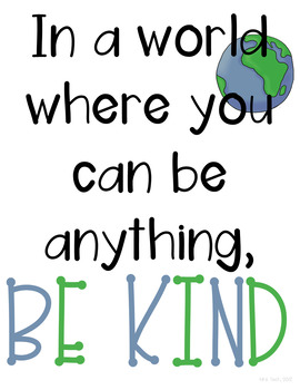 Kindness Classroom Posters