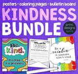 Kindness Classroom Posters • Bulletin Board • Coloring Pages BUNDLE
