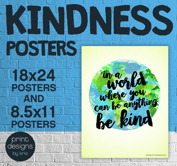 Kindness Classroom Posters • Positive Posters • Kindness & Helpfulness