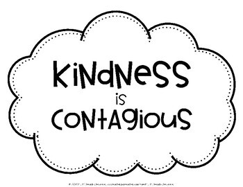 Kindness Clouds Craftivity {Editable}
