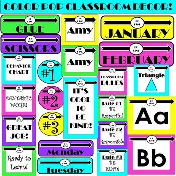 Kindness Color POP Classroom DECOR!