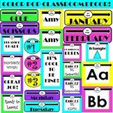 Classroom Decor (Color POP Theme) *Editable*