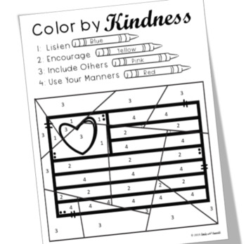 Kindness Color by Number