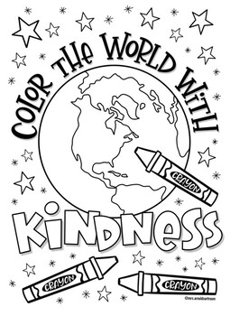 compassion coloring pages | Kindness Coloring Page by Mrs Arnolds Art Room | TpT