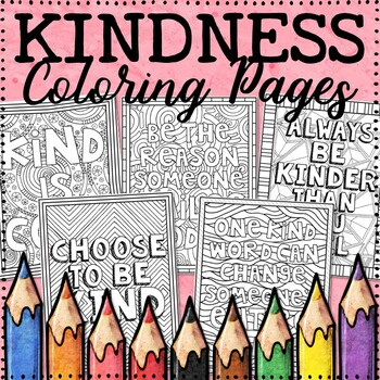 Kindness Coloring Pages