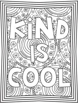 Kindness Coloring Pages Kindness