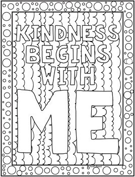 Kindness Coloring Pages Kindness Posters 20 Fun